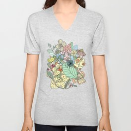 Muted In Bloom Unisex V-Neck