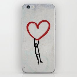 heart wall iPhone Skin