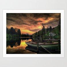 Spring Sunset On Loch Ard Art Print