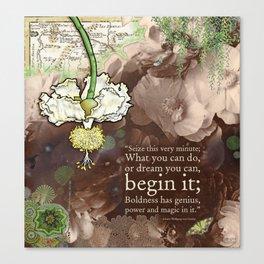 Begin it... Canvas Print