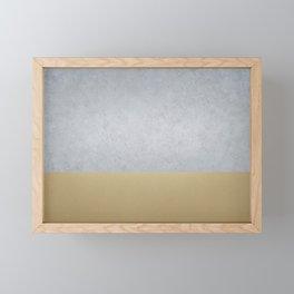 Concrete Gold Framed Mini Art Print