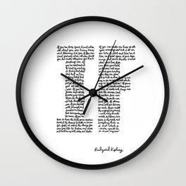 If Poem Wall Clock