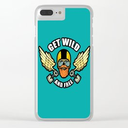 Get Wild And Free Clear iPhone Case