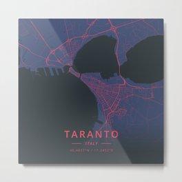 Taranto, Italy - Neon Metal Print