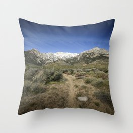 Hiking The Eastern Sierra Slope 4-29-20 Throw Pillow