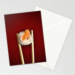 Sushi in red Stationery Cards