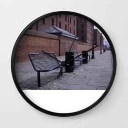 a row of benches Wall Clock