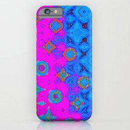 Blue, Violet and Orange Abstract Art iPhone Case