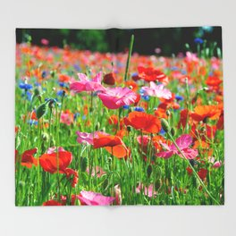 Flower Photography by Carmen Meurer Throw Blanket