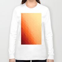 orange pattern Long Sleeve T-shirts featuring Orange Ombre by Simply Chic