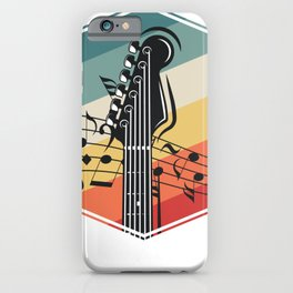 Retro Color Bass Guitar iPhone Case