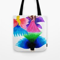 fairies Tote Bags featuring Fairies  by MandiMccl
