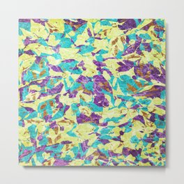 Abstract Geometric Multi-Color Blending Weird Texture Background #07 Metal Print
