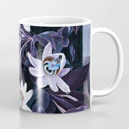 Temple of Flora Midnight Blue Purple Coffee Mug