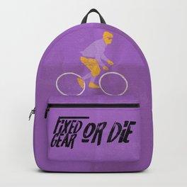 fixed gear or die Backpack