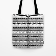 Harry Potter Inspired Tribal Print (Black and White) Tote Bag