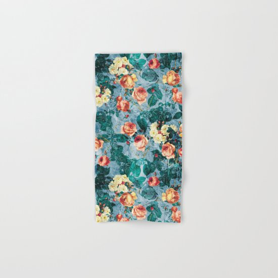 Floral and Marble Texture II Hand & Bath Towel