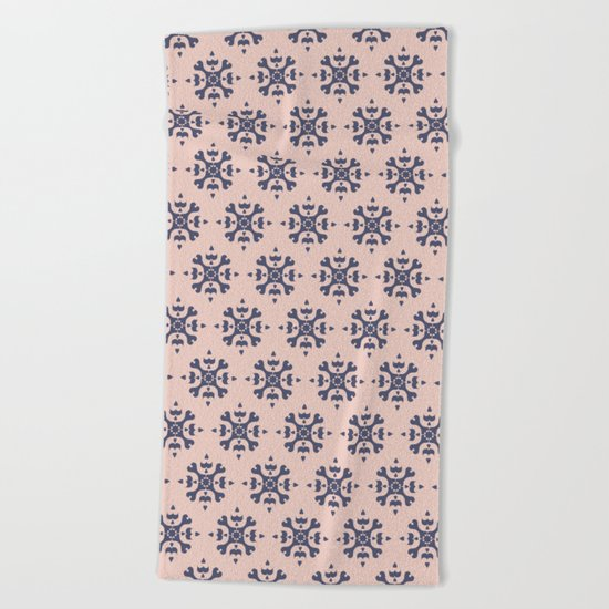 Romantic Azulejos Beach Towel