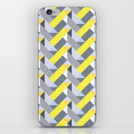 Herringbone geometric yellow iPhone & iPod Skin
