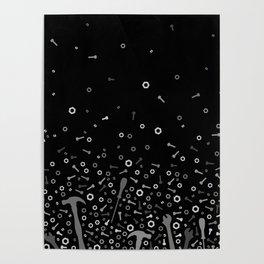 Anti-gravity Tools - grey and black Poster