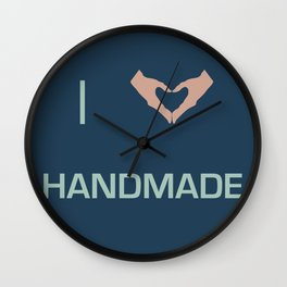 I heart Handmade Wall Clock