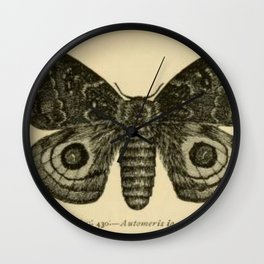 Io Moth Wall Clock
