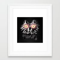 majora Framed Art Prints featuring Majora Mask by Janismarika