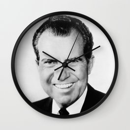 Portrait of Richard Nixon Wall Clock