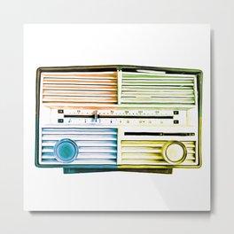 Vintage Radio Pop Art Metal Print