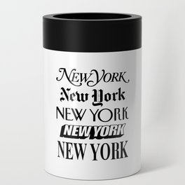 I Heart New York City Black and White New York Poster I Love NYC Design black-white home wall decor Can Cooler