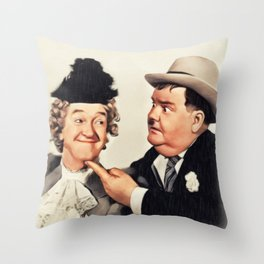 Stan Laurel and Oliver Hardy, Comedy Legends Throw Pillow