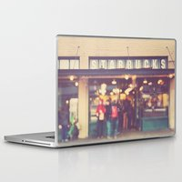 starbucks Laptop & iPad Skins featuring A Star is Born. Seattle Starbucks photograph by Myan Soffia