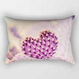 Cactus, Cactus Love, Cactus Heart, Purple, Purple Heart, Desert, Botanical, Cacti Rectangular Pillow