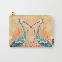 An Exotic Stork Carry-All Pouch