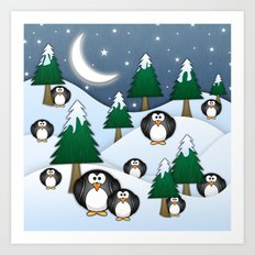 BRRRRRR! It's Chilly Art Print