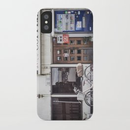 Bike and Coffee Shop in Kyoto iPhone Case