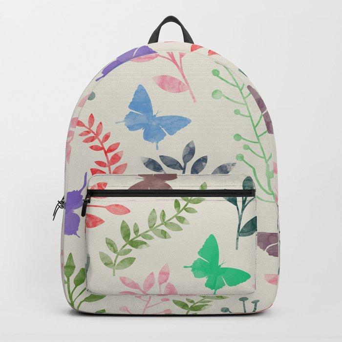 Watercolor flowers & butterflies Backpack