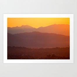 Los Angeles Sunrise Art Print