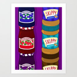 Sugar Crash No. 6: PB+J Art Print
