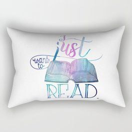 I Just Want To Read - Galaxy Rectangular Pillow