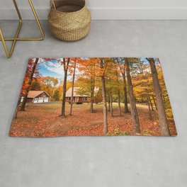 house in vermont Rug