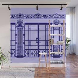 ART DECO, ART NOUVEAU IRONWORK: French Blue Wall Mural