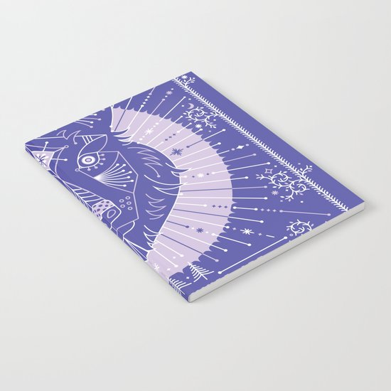 Wild & Free Wolf – Periwinkle Notebook