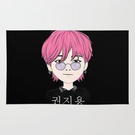G-Dragon Cartoon Black Rug