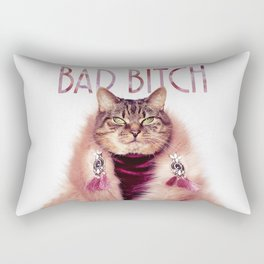 Bad Bitch Cat Rectangular Pillow