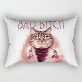 Bad Bitch Cat Rectangular Pillow