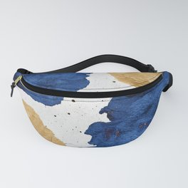 Gold and Navy Blue paint Fanny Pack