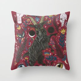 Black Phillip Throw Pillow