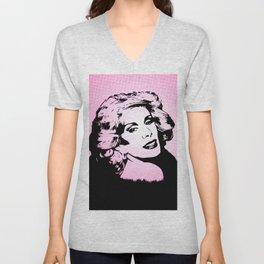 Joan Rivers   Pop Art Unisex V-Neck