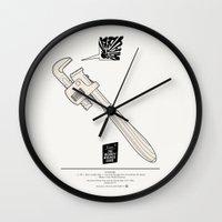1975 Wall Clocks featuring Team The Monkey Wrench Gang by THOM VAN DYKE